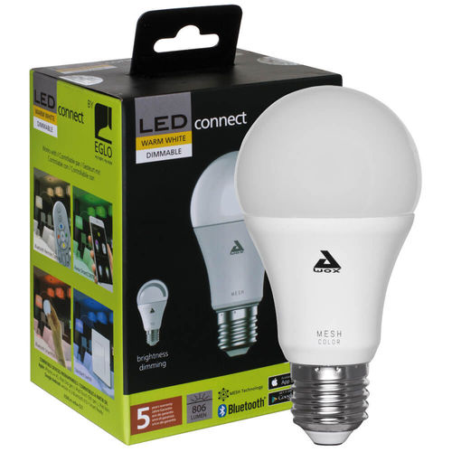 Bluetooth-LED-Lampe, LED-CONNECT, AGL-Form, matt, E27/9W 3000K
